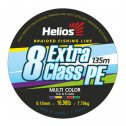 Braided fishing line Helios EXTRA CLASS 8 PE BRAID Multicolor