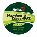Braided fishing line Helios PREMIUM CLASS 4 PE BRAID Green