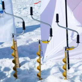 Golden Ice-auger. TONAR continues to support fishing sport in Russia.